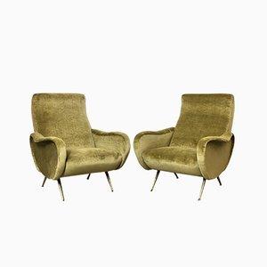 Italienische Lady Chairs von Marco Zanuso, 1960er, 2er Set