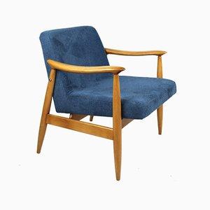 Vintage Blue GFM 300-202 Armchair by J.Kedziorek, 1970s