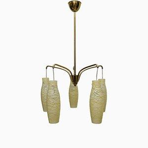 Italian Chandelier with Original Glass, 1960s