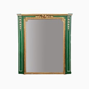 Woodwork Louis XVI Giltwood and Lacquered Mirror, 1850s