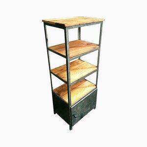 Industrielles Badezimmer Regalsystem aus Stahl & Holz