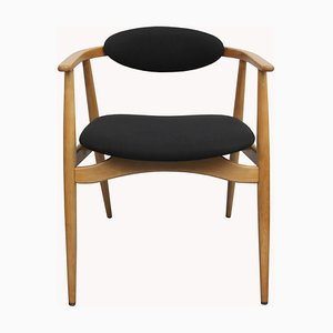 Black and Light Beech Armchair, 1960s