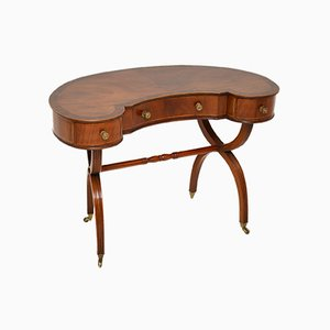 Antique Regency Style Kidney Desk or Dressing Table