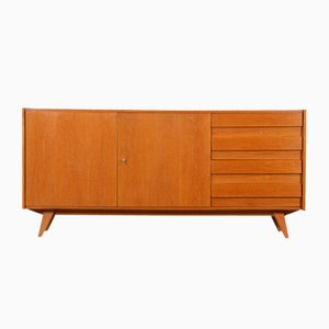 Interconnecting Oak Model U-460 Sideboard by Jiří Jiroutek for Interier Praha, 1960s
