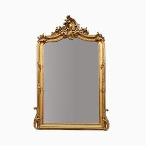 Großer Napoleon III Spiegel mit vergoldetem Holzrahmen, 1850er