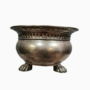 Vaso grande in metallo argentato