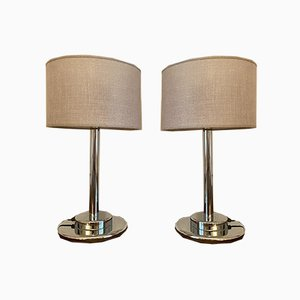 Chrome Metal Lamps, 1970s, Set of 2