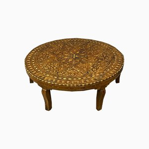 Orientalist Style Tea Table with Wood Marquetry