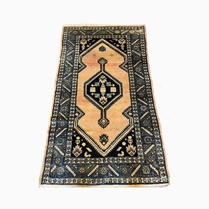 Middle Eastern Rug with Blue Decoration