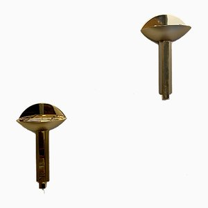 Half Moon Brass Italian Sconces, 1975, Set of 2