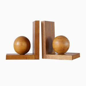Mid-Century Wooden Bookends, Set of 2