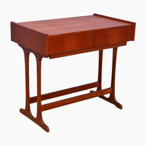 Danish Teak Sewing Table or Side Table, 1960s