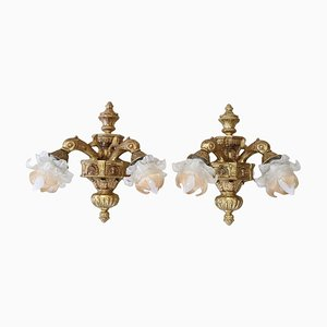 Gilt Bronze Sconces, 1930s, Set of 2