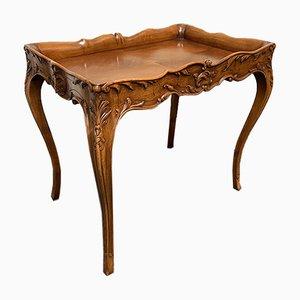 Französischer Vintage Walnuss Tisch