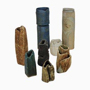 Englische Mid-Century Keramik Skulpturen, 8er Set