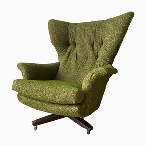 Vintage Green The Sixty Two 6250 Rocking Swivel Armchair from G Plan