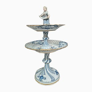 Porcelain Blue and White Meissen Centerpiece, 19th Century