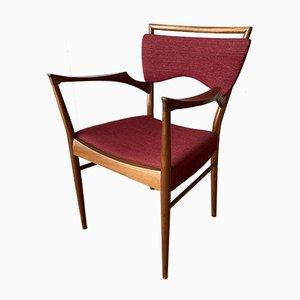 Mid-Century Danish Teak Elbow Lounge Armchair