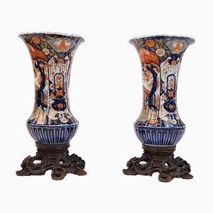 Antike Imari Vasen aus Porzellan, 2er Set