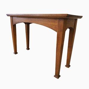 Vintage Arts and Crafts Eichenholz Altar Tisch