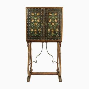 Antique Spanish Revival Oak Drinks Cabinet
