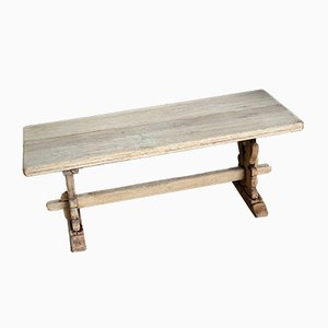 Vintage Rustic French Bleached Oak Coffee Table