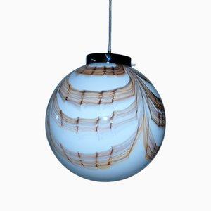 Lampada sferica tripla sferica in vetro di Murano
