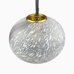 Italian Swirled Murano Glass Pendant Lamp, 1970s