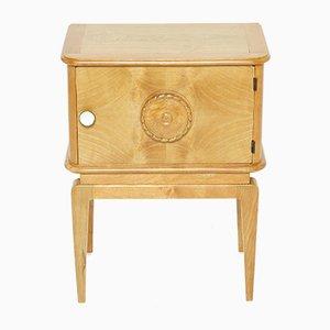Ash Bedside Carved Table, 1940s