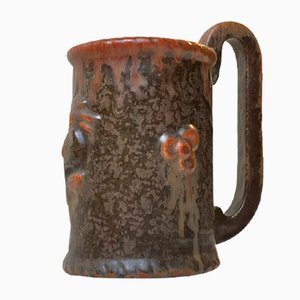 Danish Stoneware Rooster Vase by Michael Andersen, 1950s