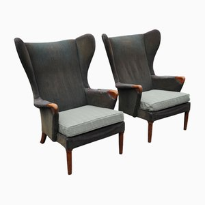 Model 757 MK2 Wingback Armchairs from Parker Knoll of High Wycombe, 1960, Set of 2