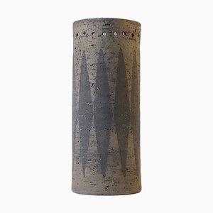 Schwedische Chamotte Vase mit Pfeil Design von Valeria G. Törnberg für Elbogen, 1970er