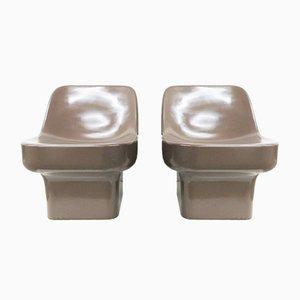 Plastic Garden Chairs by Douglas Deeds for Architectural Fiberglass, Set of 2