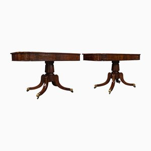 Antique English Mahogany Hall or Side Tables, 1830s, Set of 2