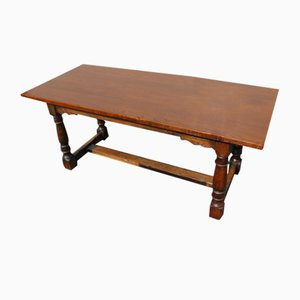 Oak Refectory Table with Cross Stretcher, 1960s