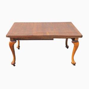 Mahagoni Wind-Out Tisch mit 1 Blatt, 1920er