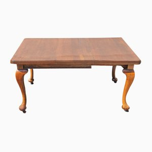 Mahogany Wind-Out Table with 1 Leaf, 1920s