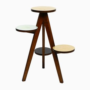 Mid-Century Czech Wooden Tripod Plant Stand