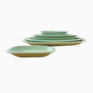 Porcelain Spearmint Trays, Spain, 1960s, Set of 8
