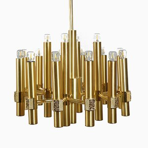 16-Flame Chandeliers by Angelo Brotto for Esperia, Italy, 1970s