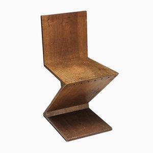 Vintage Zig-Zag Chair by G. Rietveld