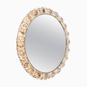 Specchio vintage retroilluminato in metallo cromato e cristallo di Palwa, Germania