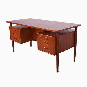 Freestanding Teak Desk by Arne Vodder, 1960s