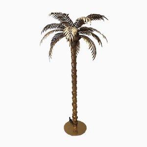 Palmen Lampe aus Messing