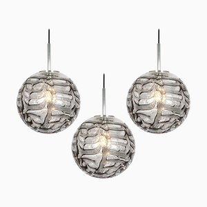 German Murano Glass Ball Pendant Lamp from Doria Leuchten, 1970s