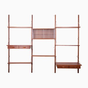 Danish Teak Modular Wall Unit from PS System, 1960s, Set of 12