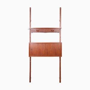 Dänisches Modulares Teak Wandregal von PS System, 1960er, 4er Set