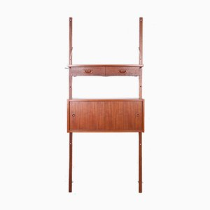 Danish Teak Modular Wall Unit from PS System, 1960s, Set of 4
