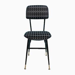 Stuhl aus Eisen & Stoff, 1960er