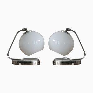 Lámparas de mesa Bauhaus, años 40. Juego de 2